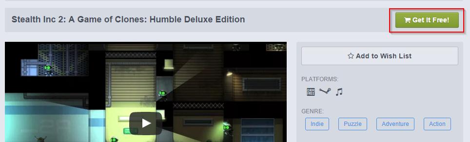Stealth Inc 2: A Game of Clones раздается бесплатно в магазине Humble Bundle