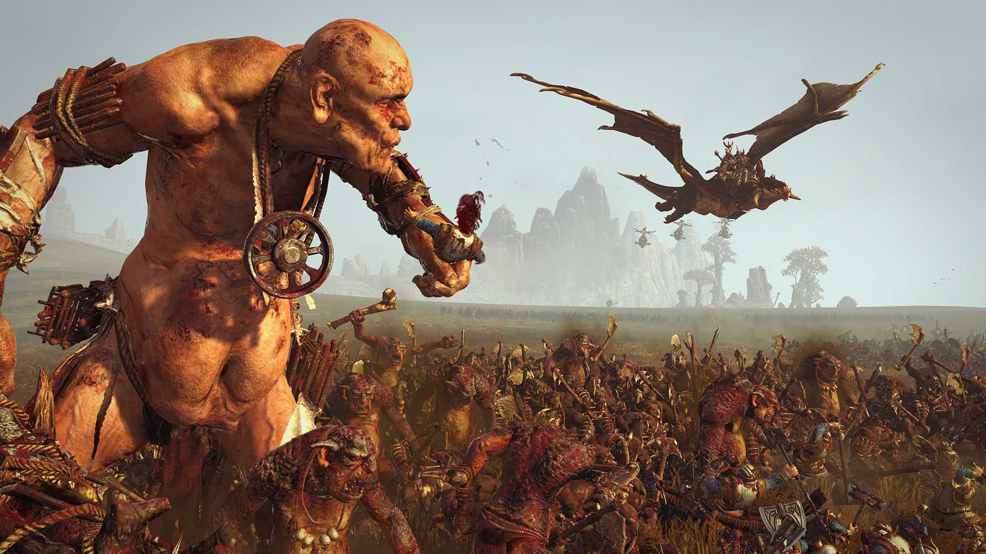Total War: Warhammer с DLC Blood for the Blood God со скидкой