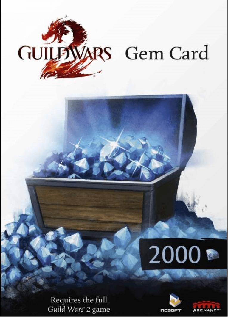 Купить ключ дешево Guild Wars 2 2000 Gems