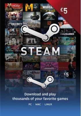 Купить ключ дешево Карта оплаты Steam 5 фунтов